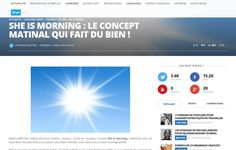 Qapa - Mars 2015  https://www.qapa.fr/news/she-is-morning-le-concept-matinal-qui-fait-du-bien/