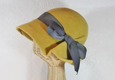vintage inspired pleated cloche ~ Lana