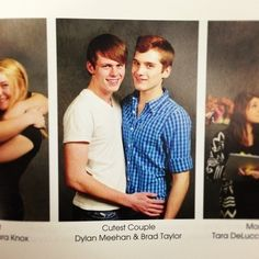 """Dylan Meehan and Brad Taylor voted """"cutest couple"""" for the 2013 school year: 