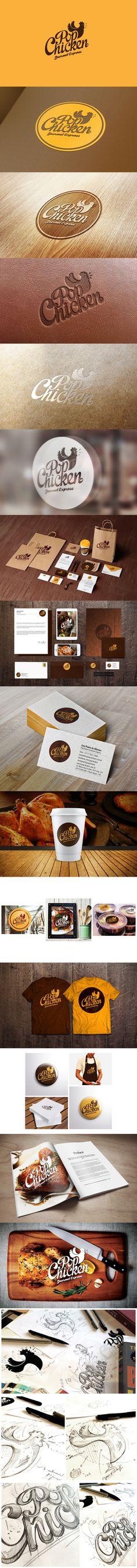 PopChicken Gourmet Express // Identity  #brand #design