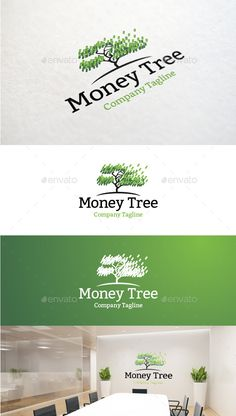 Money Tree - Logo Design Template Vector #logotype Download it here: http://graphicriver.net/item/money-tree/8971195?s_rank=1751?ref=nexion