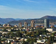 Downtown Kelowna from Mount Royal Desert Climate, Selling Real Estate, British Columbia, San Francisco Skyline, Babe, Canada, World, Places, Travel