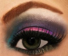 funky party eyeshadow discovered by Daisiee on We Heart It Make Up Your Mind, Eye Make Up, Beauty Makeup, Hair Makeup, Hair Beauty, Makeup Style, Makeup Art, We Heart It, Make Up Designs