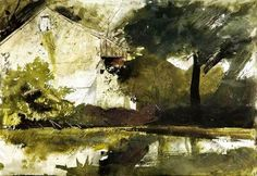 Andrew Wyeth Watercolor Paintings | Andrew Wyeth - Hoffman's Barn, 1959. Watercolor on paper, - Pictify ...