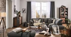Wohnlandschaft in Silberfarben Couch, Furniture, Home Decor, Silver Ash, Colors, Homes, House, Settee, Decoration Home