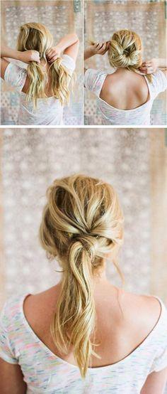 Easy Twist Ponytail Hairstyle Tutorial