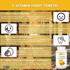 A C-vitamin (aszkorbinsav) vízoldékony vitamin, így a felesleges mennyiséget a szervezetünk egyszerűen a vizelettel kiüríti, ezért a túladagolása igen valószínűtlen. A C-vitamin segíti a szervezet kollagén termelését. A kollagén egy olyan fehérje, ami a csontok, az inak és az ínszalagok szerkezetének megőrzésében játszik fontos szerepet. A kollagén hiányában elsorvadnak a porcok, az ínszalagok, az inak, a csontok, a bőr, az íny, meglazulnak és kiesnek a fogak. Korn, Health, Health Care, Salud