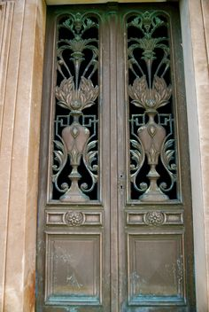 Doors at Mountain View Cemetery, Oakland, CA (photo by S. Caputo)