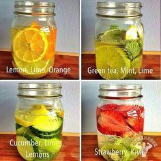 Detox flavored waters