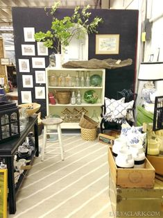 My booth at the Catawba River Antique Mall, located in Belmont, NC.