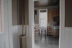 Lovely, Dark, and Deep: An 1800s Victorian House in Nebraska, Restored Down to the Doorknobs - Remodelista Brass Bed, Door Entryway, Architectural Antiques, Modern Traditional, Door Knobs, Victorian Homes, Modern Wall, Second Floor, Nebraska