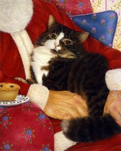 cats anne mortimer images | Christmas Lap Cat...Anne Mortimer | christmas cards