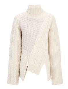 Joseph Patchwork Knit High Neck Sweater, $625; joseph-fashion.com