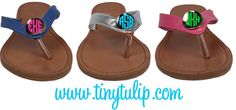 Monogrammed Flip Flop Style Sandal by tinytulip on Etsy