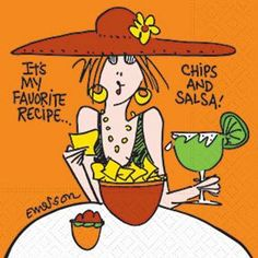 Cute Cinco De Mayo idea  My Favorite Recipe - Beverage Napkin