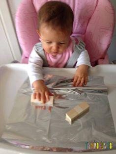 Atividade sensorial para estimular o desenvolvimento de bebês de 6 a 12 meses