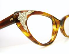 5636b1c2f49 Vintage 50s Cat Eye Glasses Eyeglasses or Sunglasses Frames