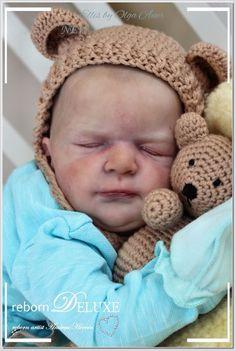 beautiful reborn baby ~ELLIS~ WOW Olga AUER  artist Andrea Heeren hairpainting  | eBay