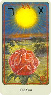 XIX. The Sun: Haindl Tarot