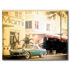 Shop Miami-South beach Postcard created by Miamixoxo. Personalize it with photos & text or purchase as is! Funny Vintage Ads, Vintage Advertising Posters, Myrtle Beach South Carolina, South Beach Miami, Photo Postcards, Vintage Postcards, Around The World In 80 Days, Around The Worlds, Boulder Beach