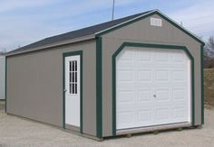The Garage is a perfect storage building for your car, ATV or garden tractor. The entry door makes for easy access. This shed is also a portable building and provides perfect storage for your larger tools, valuables, motorcycles and such. Add a workbench and a tool organizer and it becomes a perfect workshop. Electricity is an option we can add for your convenience.