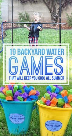 Field Day Games For Kids Discover 19 Backyard Water Games You Have To Play This Summer 19 Backyard Water Games That Will Keep You Cool All Summer Summer Fun For Kids, Summer Activities For Kids, Fun Activities, Outdoor Activities, Summer Games, Preschool Games, Toddler Activities, Backyard Water Games, Water Games For Kids