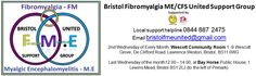 Bristol FME United Meetings ~   2nd Wednesday of Every Month, Wescott Community Room 1 -9 Wescott Grove, De Clifford Road, Lawrence Weston, Bristol, BS11 0WG  Last Wednesday of the month12.00 – 14.00, at Bay Horse Public House, 1 Lewins Mead, Bristol BS1 2LJ (to the left of Primark).   Follow Bristol FM.E United on Twitter - Facebook - Pinterest