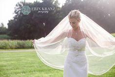 Gorgeous bride & veil shot - Erin Kranz Photography » Charlotte NC Wedding Photographer » Hunting Creek Farms Wedding