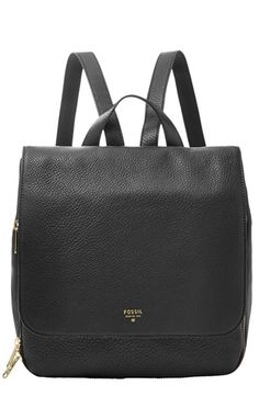 Fossil 'Preston' Leather Backpack available at #Nordstrom