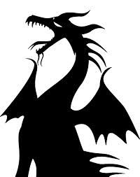 Maleficent silhouette - for my window Dragon Birthday, Dragon Party, Villains Party, Disney Villains, Silhouette Clip Art, Silhouette Projects, Silhouette Images, Maleficent Birthday Party, Maleficent Dragon