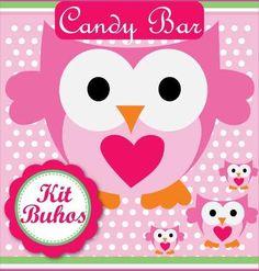 kit imprimible lechuzas y buhos candy bar cumpleaños