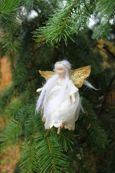 Reserved  A Winter Fairy  Christmas Tree Ornament door Phoebecapelle