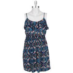 As U Wish Juniors Printed Ruffle Top Dress #VonMaur