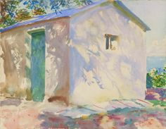 John Singer Sargent, Corfu: Lights and Shadows, 1909. Translucent and opaque watercolor, with wax resist, over graphite on paper.