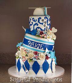 ~ Sugar Teachers ~ Cake Decorating and Sugar Art Tutorials: Graduation Wedge Cake by Sharon Zambito
