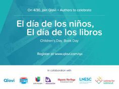 Free Author Readings for PreK-8 Classrooms and Young Readers at Home Nationwide on April 30 to Celebrate El día de los niños, El día de los libros! | Children's Book Council