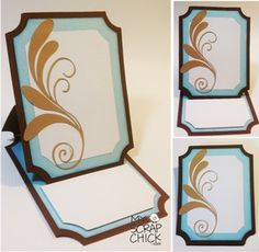 Classic Easel Card with Flourish: $3 My Scrap Chick