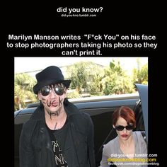 This is hilarious and genious.I love Marilyn Manson.