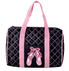 9f5818557bda Quilted Ballet Shoe Dance Bag by Danshuz in Black