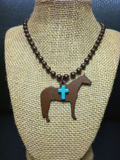 Rustic Copper Show Horse Necklace | Showring Silhouettes