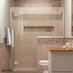 Dreamline Unidoor-X 55-In To 55.5-In Frameless Hinged Shower Door D125