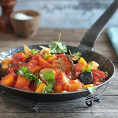 Kürbis-Ratatouille Polenta Recipes, Vegetarian Recipes, Healthy Recipes, Paleo Food, Healthy Food, Food Photography, Clean Eating, Curry, Veggies