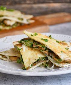 Spenótos-gombás quesadilla recept   Street Kitchen