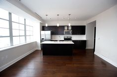 Open Concept Kitchen in our 818 square foot luxury loft @10 Lafayette Square. Perfect for entertaining.