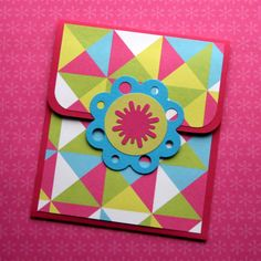 Gift Card Holder by Think Crafts by CreateForLess - great way to present the gift card in a more fancy & fun way!!