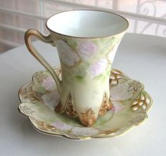 Royal Bayreuth Chocolate Cup And Saucer