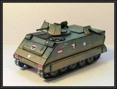 M113 Armored Personnel Carrier Free Paper Model Download