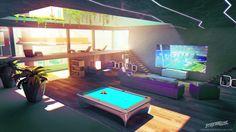 Streamline concept-art : game room, Sylvain Sarrailh on ArtStation at…