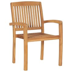 Stacking Garden Chairs 8 pcs Solid Teak Wood
