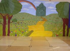Wizard of Oz Play Scenery Wizard Of Oz Play, Play Poster, Scenery Background, Virtual Pet, School Play, Ministry Ideas, Dramatic Play, Pastels, Plays